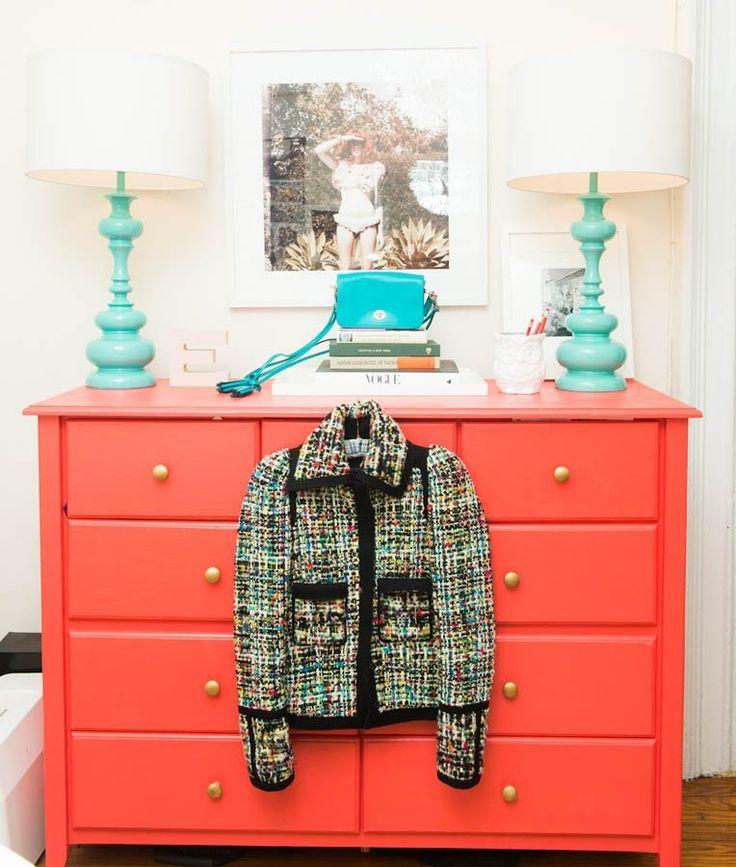 Coral + Teal. Elle Strauss For The Coveteur.