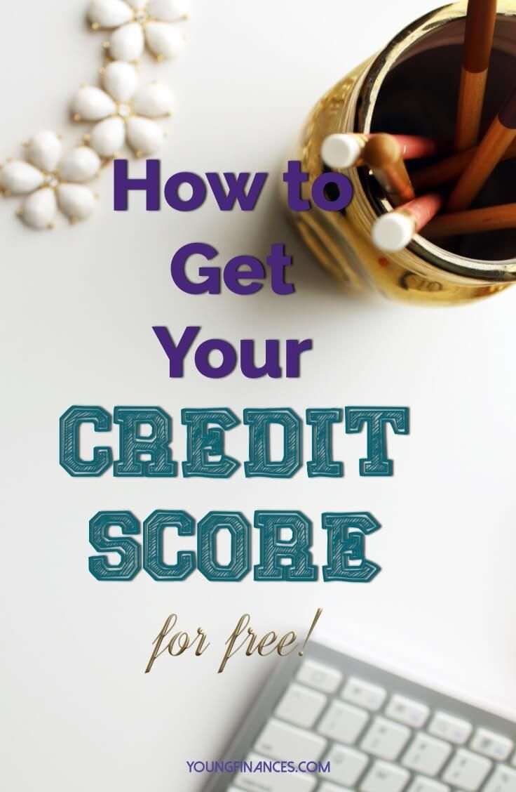 Easy way to get your credit score. I need to get my finances together and this was on my list! Saving!