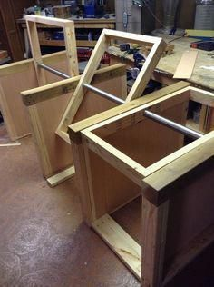 Assemble the Base #woodworkingbench #DiyWoodProjec…