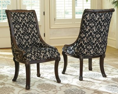 Valraven Dining Room Chair Set Of 2 By Ashley Homestore Brown