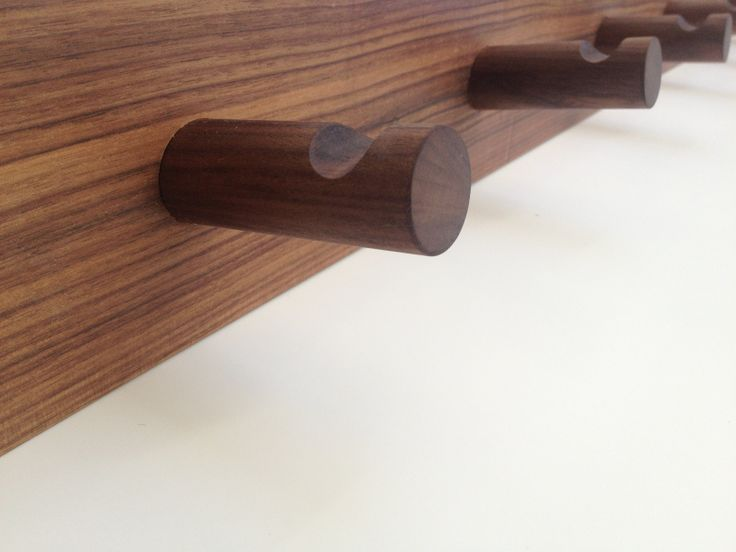 american walnut coat rack ,available from chris colwell design