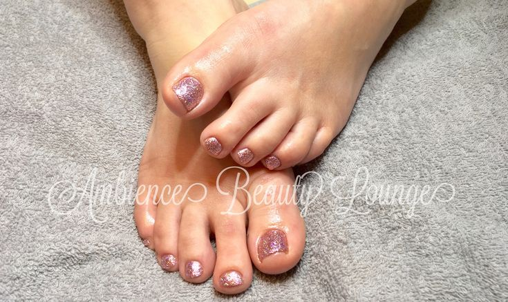 Pink Glitter Toes