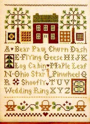 Quilt Time Sampler - Cross Stitch Pattern  by Little House Needleworks