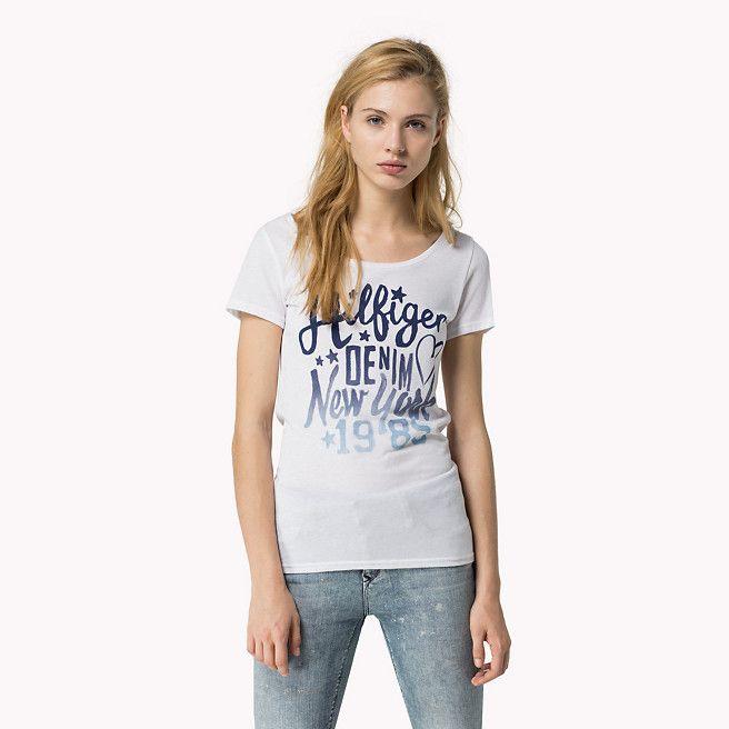 Hilfiger Denim Lala Bedrukt T-shirt - classic white (Wit) - Hilfiger Denim T-Shirts - detailbeeld 0