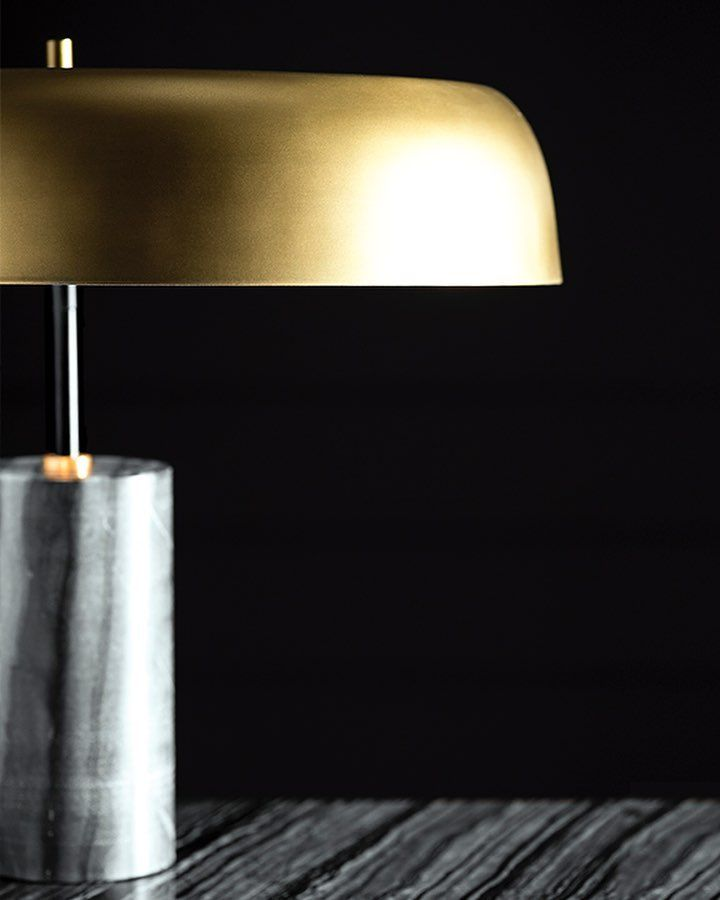 Nuevo Living The Maddox Table Lamp Combines Brushed Brass And Black Marble The Light Takes On A Perfectly Balanced Asymmetrical F Lamp Table Lamp Light Take