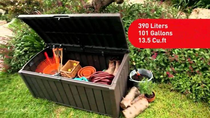 Сундук из пластика с отделкой под дерево Keter Glenwood, вместительный, прочный, с петлями для замка и удобным открыванием - отличное место для хранения садового инвентаря, игрушек, пляжных принадлежностей.  http://www.metgar.ru/catalog/sunduki/glenwood/