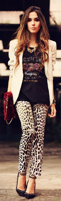 Now I know what to do with the 7 diff pair of leopard print leggings I own