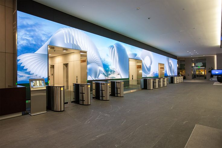 Salesforce Video Wall: Digital Art Installation by Obscura | Inspiration Grid | Design Inspiration