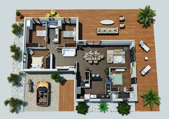 Les 20 meilleures id es de la cat gorie plan maison 90m2 - Idee maison a construire ...