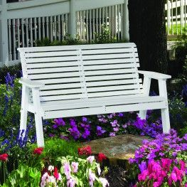 Luxcraft crestville plain 4 ft bench luxcraft poly furniture pinterest benches - Luxcraft fine outdoor furniture ...