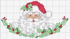 Punto croce: Christmas Crosses, Santa Claus, Father Christmas, Embroidery Christmas, Cross Stitch, Stitches Christmas, Christmas Stitchery, Crosses Stitches, Noel Good