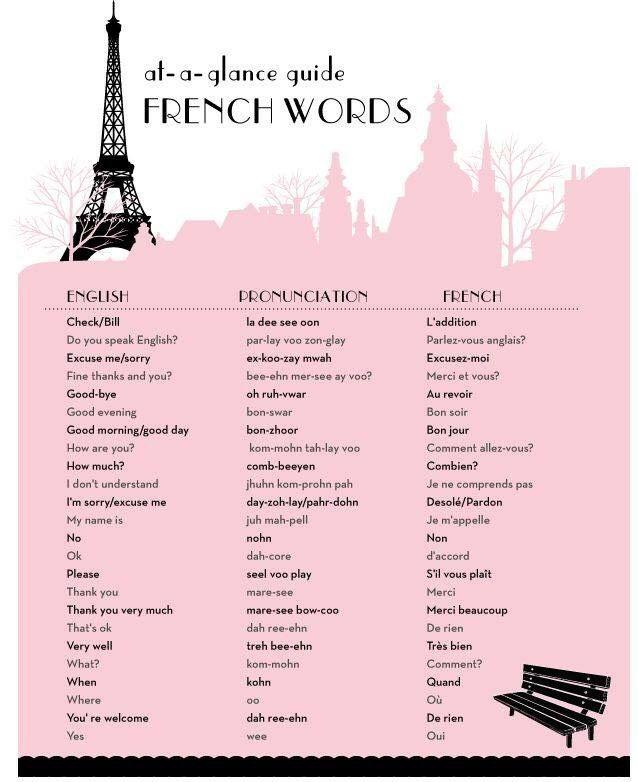 ✨✨Basic French Words✨✨
