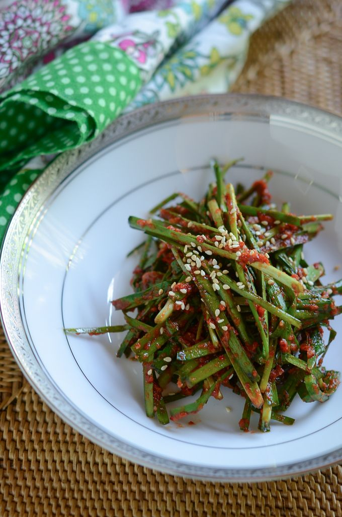 273 best korean food images on pinterest korean recipes korean garlic chives kimchi is easy and quick kimchi you can make during the spring season look for tender and slim garlic chives at the asian market forumfinder Images