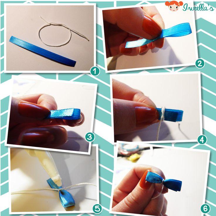 Simple ribbon bow tutorial. DIY by Iwiella's
