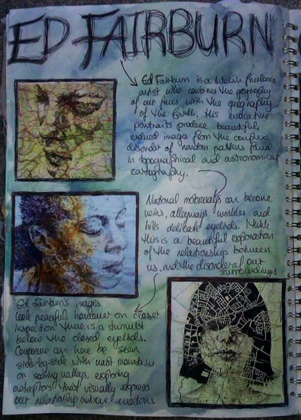 Ed Fairburn critical study for GCSE Art 'Order and Disorder'
