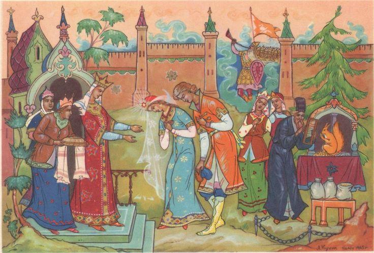 Открытки к сказке о царе салтане