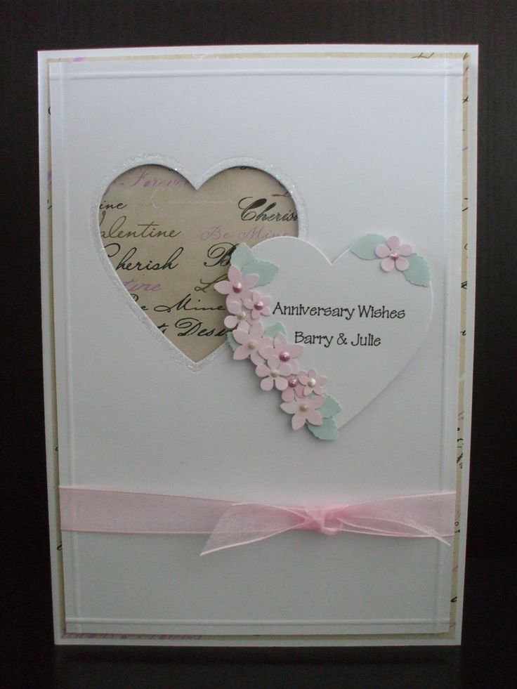 Handmade love anniversary cards the for Handmade anniversary gift ideas