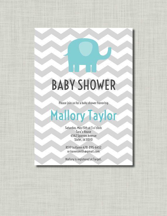 Hey, I found this really awesome Etsy listing at https://www.etsy.com/listing/105171434/blue-elephant-baby-shower-invitation