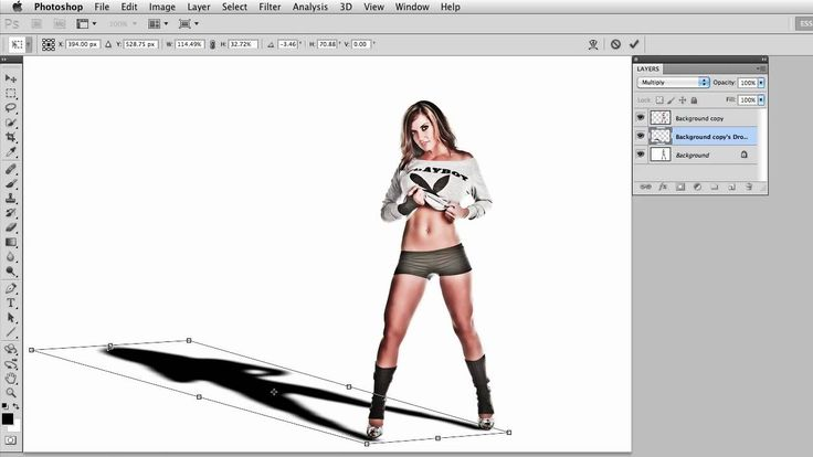 How to Create a Real Drop Shadow in Photoshop with Layer Styles, via YouTube.