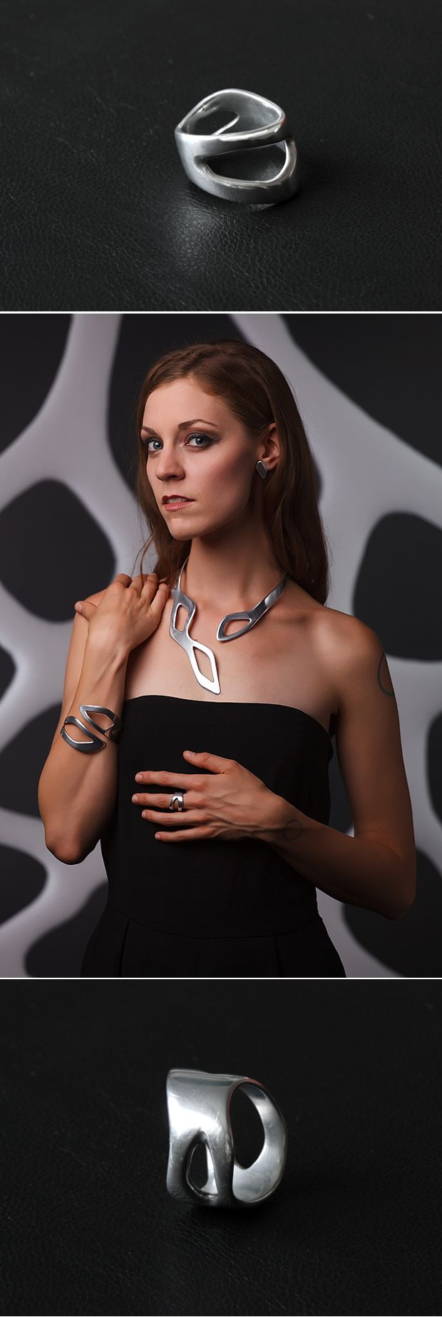 FLUID collection. Tomas Holub - minimalist jewelry made of anodized and polished aluminum. Enjoy your own piece of aluminum!
