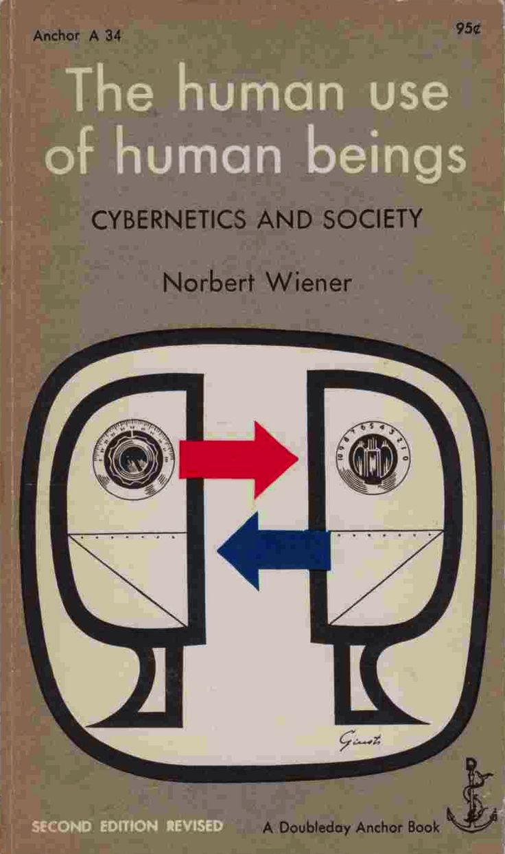 Norbert Wiener. The Human Use of Human Beings: Cybernetics and Society. 1950.