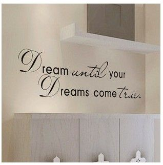 Dream Come True Wall Art Quote Home Sticker Vinyl Decal Room Decor Kid Removable | eBay