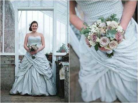 wedding dress inspiration: Fancy Dresses, Wedding Dressses, Dresses Inspiration, Wedding Dresses, Brides, Real Wedding, Stripey Gowns, Stripes Dresses, Winter Weddings