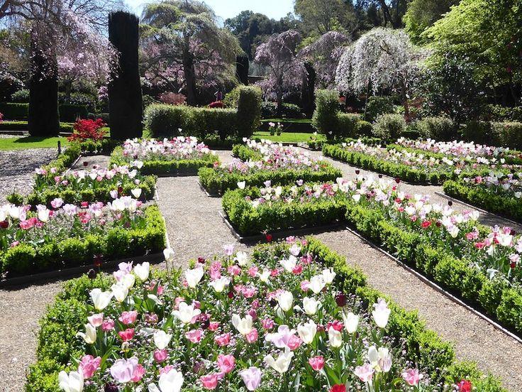 Pictures of Filoli gardens, Woodside, California in 2020