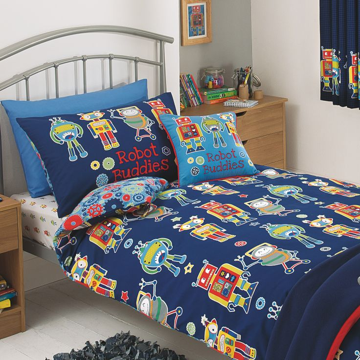 7 best beds bedding images on pinterest child room for Robot bedroom