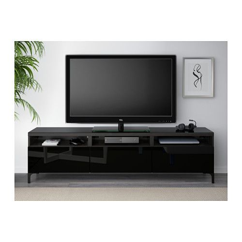best tv unit with drawers black brownselsviken high glossblack - Meuble Tv Ikea Montreal