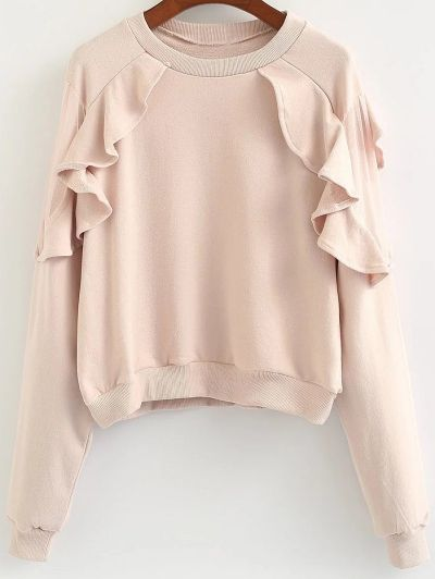 SHARE & Get it FREE | Loose Flounce Ruffles SweatshirtFor Fashion Lovers…