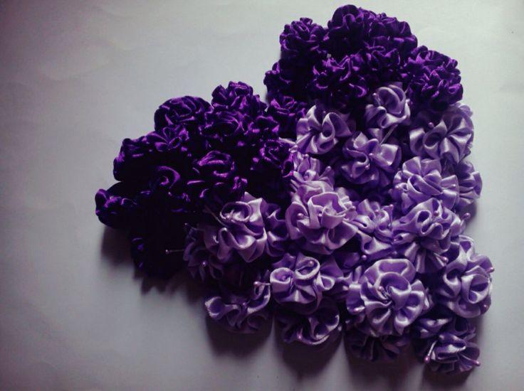 Ribbon flower again  purple