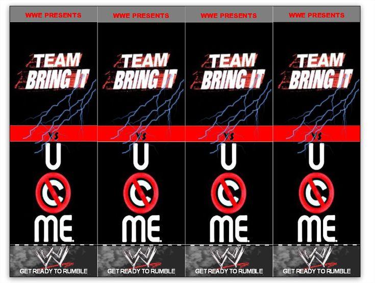 WWE Ticket Invitation - Back