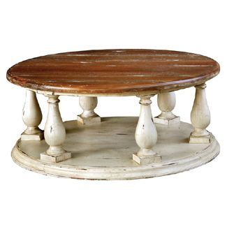 Hemmingway Round Coffee Table Traditional