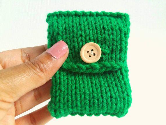 ~ Hand gebreid zakje van 100% acryl garen in het groen ~ ...