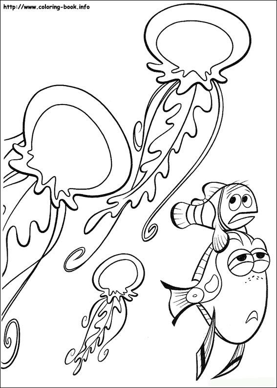 finding nemo coloring picture - Finding Nemo Coloring Book