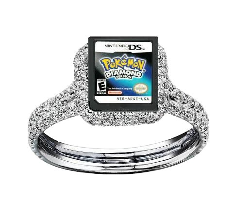 This Is So Awesome And Well Thought Out Pokemon Diamond Version Wedding Ring Gift Present