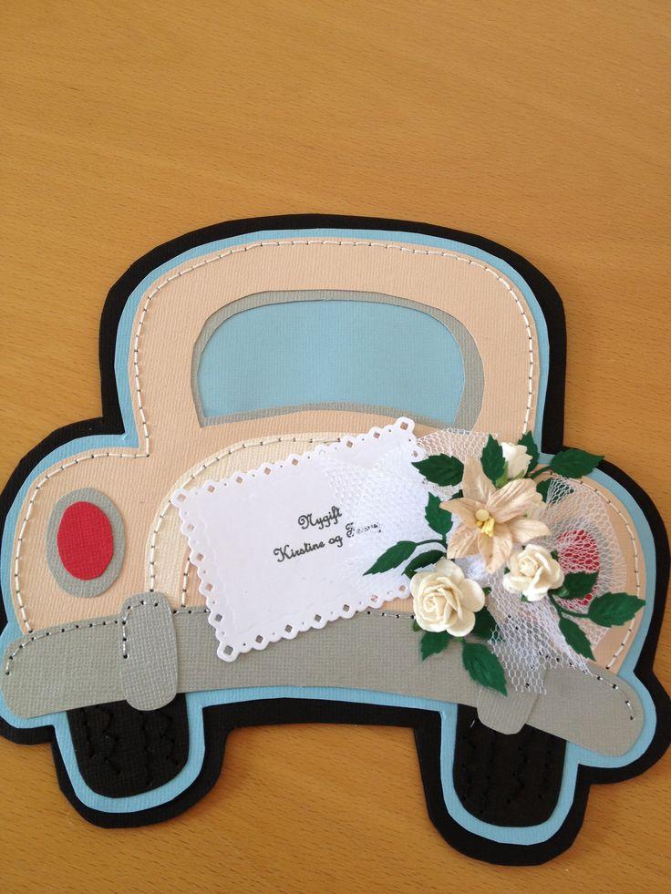 Wedding card, hand sewing