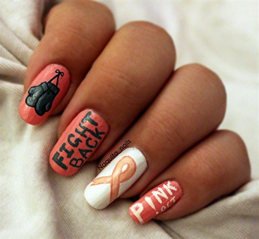 Nail Cake October 2013: 108 Best Breast Cancer Awareness Nail Art Images On