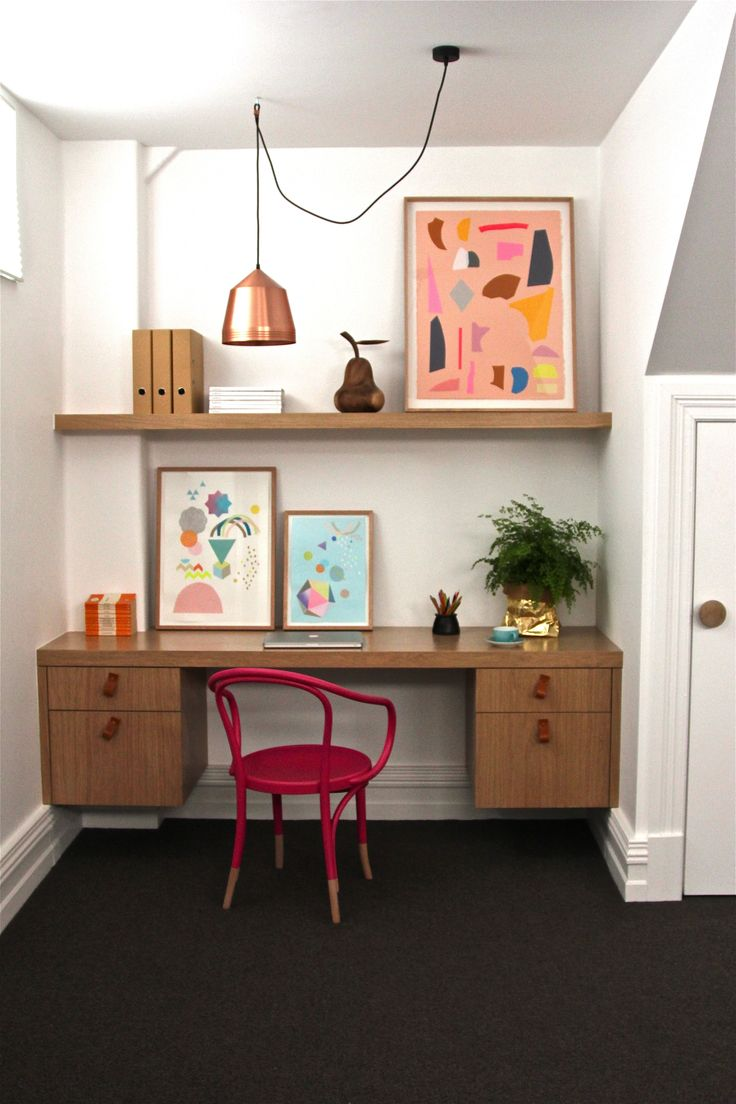Drummond st study nook remodelista best office space we for Small apartment office