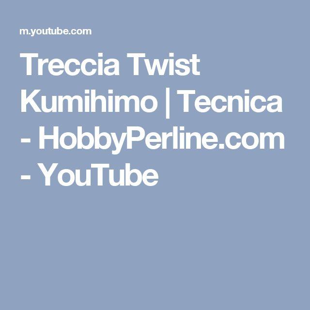 Treccia Twist Kumihimo   Tecnica - HobbyPerline.com - YouTube