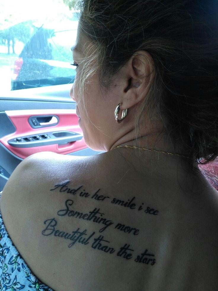 I love my new script tattoo :)