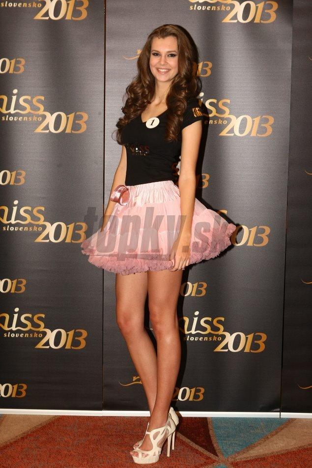 Miss Slovakia 2013 wearing Isabella pink petti skirt