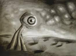 Znalezione obrazy dla zapytania eye surrealizm illustration