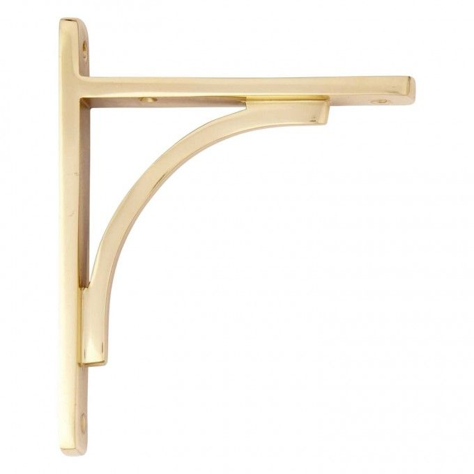 Rustic Brass Shelf Bracket Signature Hardware Wade's Room