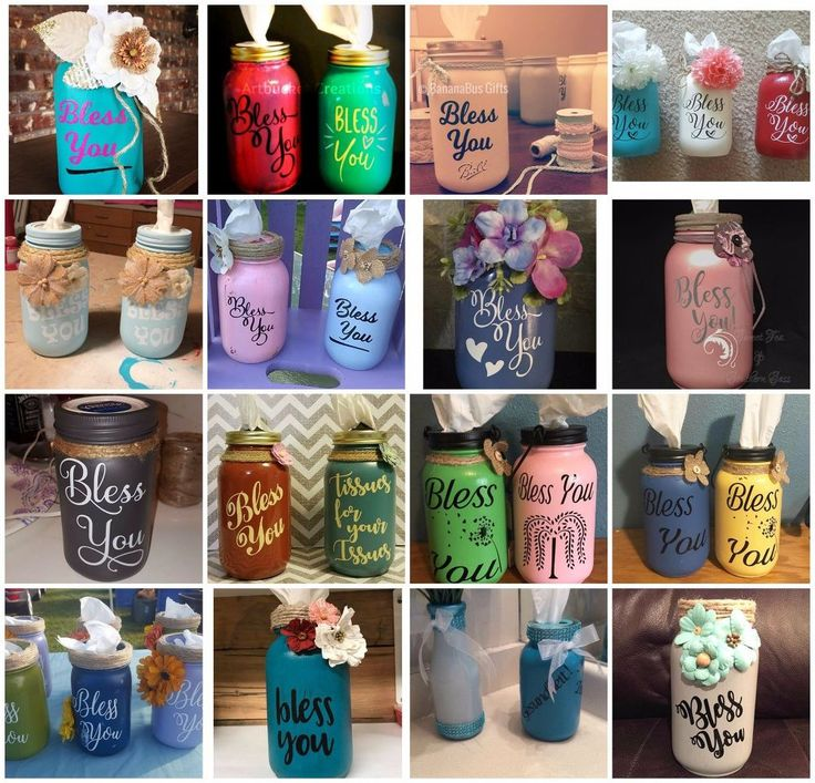 DIY- Mason Jar Tissue Holders