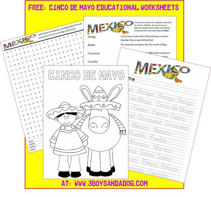 FREE: Printable Cinco de Mayo Activities for Kids #CokeFiesta