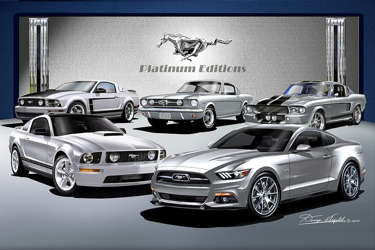 Ford Mustang Platinum Editions Fine Art Prints by Danny Whitfield