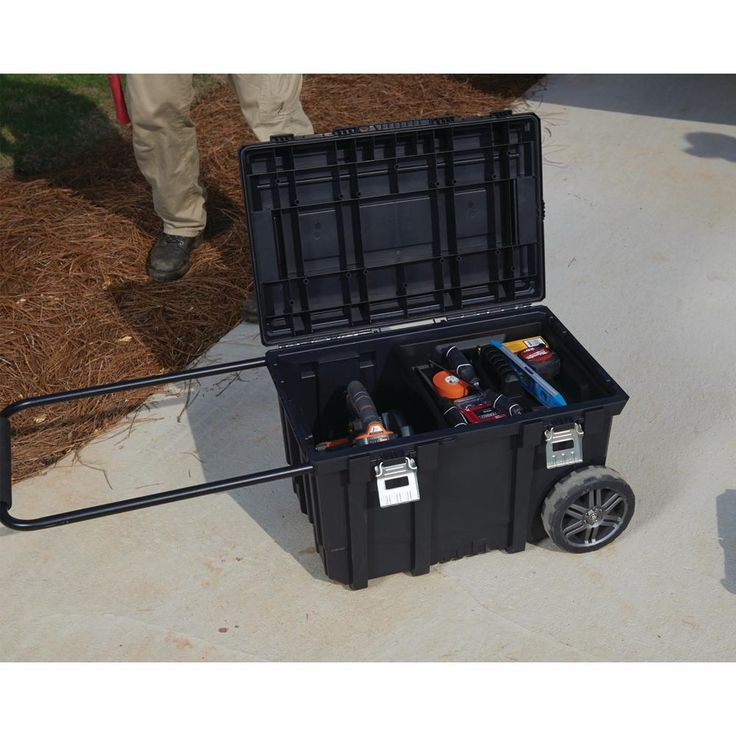 Husky 26 in. Connect Mobile Tool Box Black