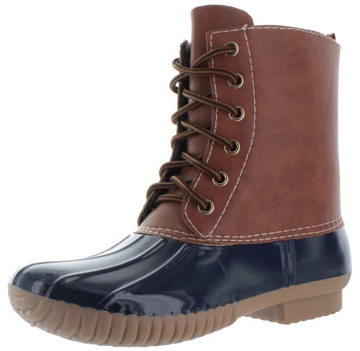 Moda Essentials Women's Ankle Rain Duck Boots Booties